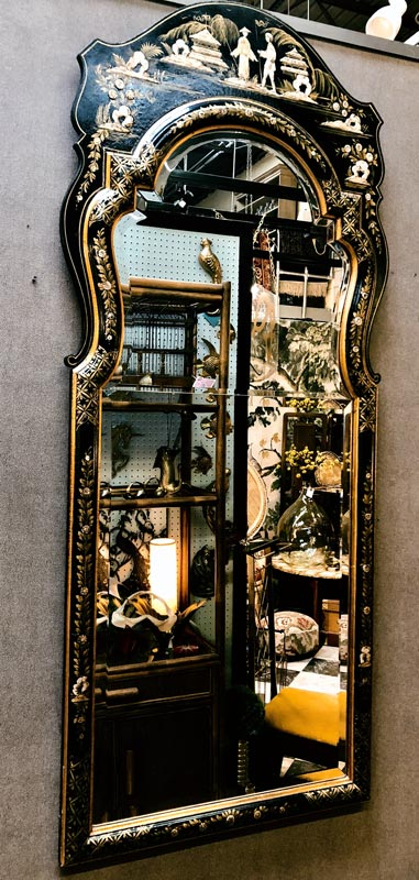 Anna's Mostly Mahogany Consignment - Chinoiserie Mirror