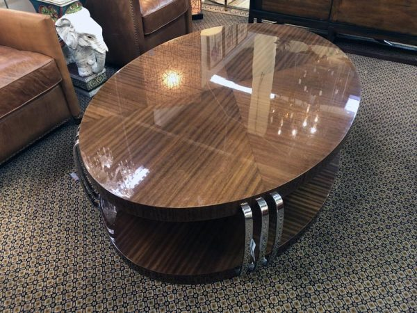 Anna's Mostly Mahogany Consignment - Oval Coffee table