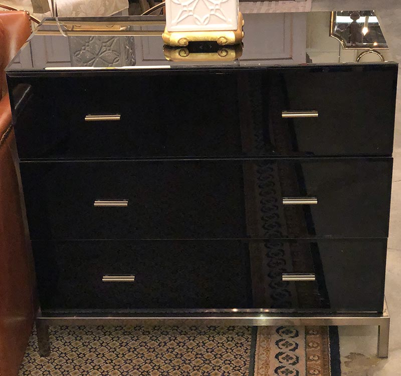 premium selection 9264e 6f960 Pair of Black Glass Chest of Drawers – Antique And Art ...