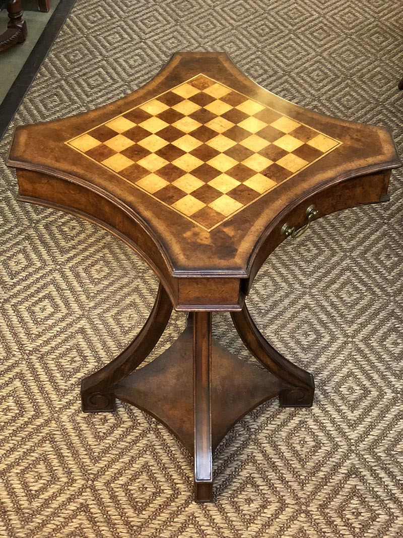 Regency Style Walnut Game Table Antique And Art