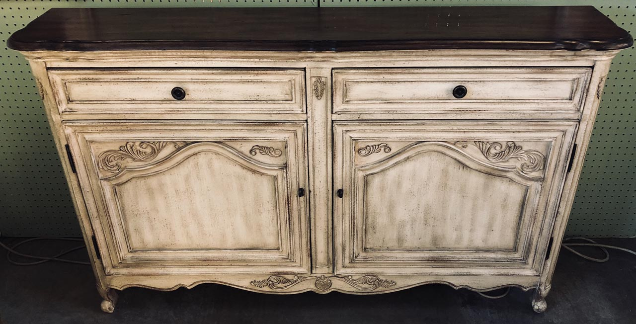Beige French Style Cabinet Credenza Antique And Art