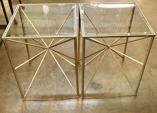 Silver Starbust End Tables