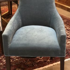 Teal Velvet Upholstered Chairs