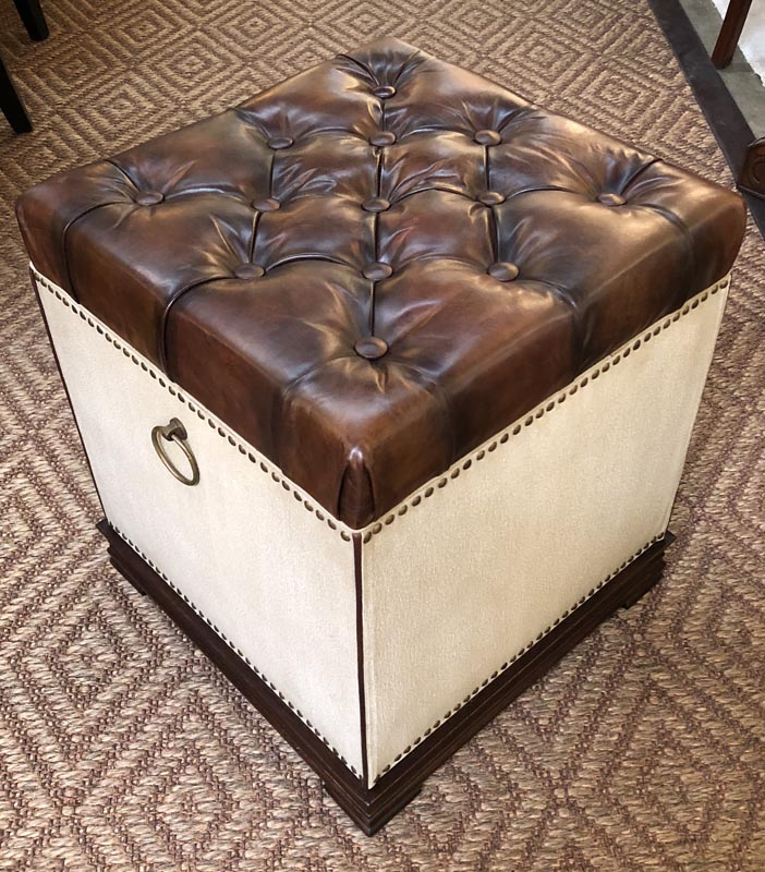 Ottomans Ornate Mahogany Ottoman: Antique And Art Consignment