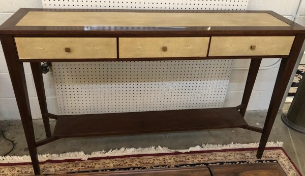 Anna's Mostly Mahogany Consignment - Shagreen Console Table