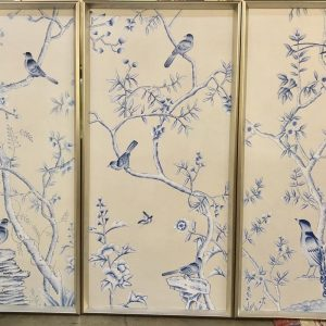 Anna's Mostly Mahogany Consignment - Set of 3 Bird Panels