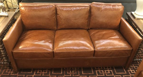 Anna's Mostly Mahogany Consignment - Leather sofa