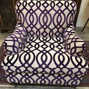 Anna's Mostly Mahogany Consignment - Purple Club Chair