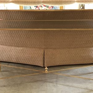 Anna's Mostly Mahogany Consignment - Gold Two-Tier Console Table
