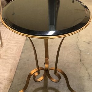Anna's Mostly Mahogany Consignment - Gilded Black Marble Top Table