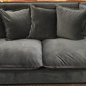 Anna's Mostly Mahogany Consignment - Charcoal Gray Sofa