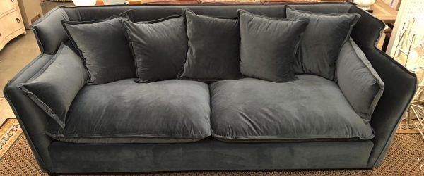 Anna's Mostly Mahogany Consignment - Charcoal Gray Sofa
