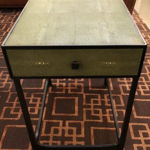 Anna's Mostly Mahogany Consignment - Faux Shagreen Side Tables