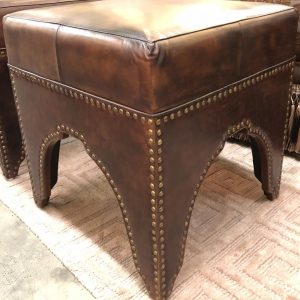Anna's Mostly Mahogany Consignment - Nailhead Leather Stools