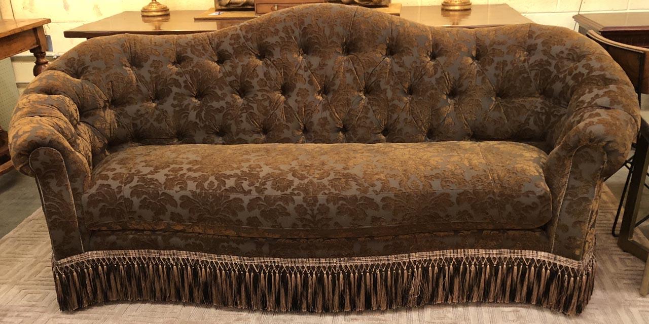 Brown Damask Sofa