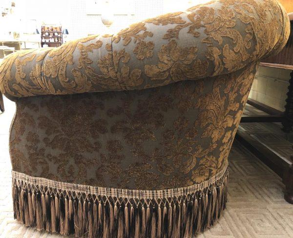 Anna's Mostly Mahogany Consignment - Brown Damask Sofa