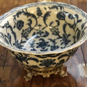 Anna's Mostly Mahogany Consignment - Blue & White  Bowl