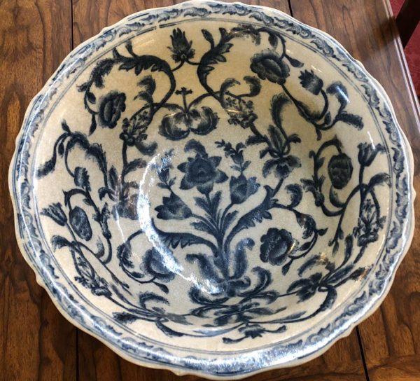 Anna's Mostly Mahogany Consignment - Blue & White  Bowl