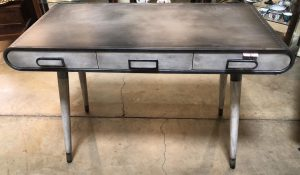 Anna's Mostly Mahogany Consignment - Sheet Metal Writing Desk