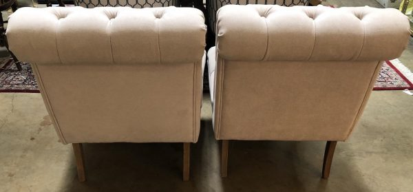 Anna's Mostly Mahogany Consignment - Pair of Slipper Chairs