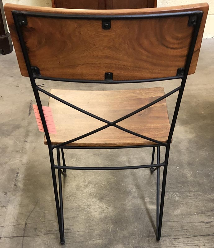 wooden and metal chairs single woodenmetal chair antique and art consignment highwood