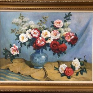 Anna's Mostly Mahogany Consignment - Floral Painting