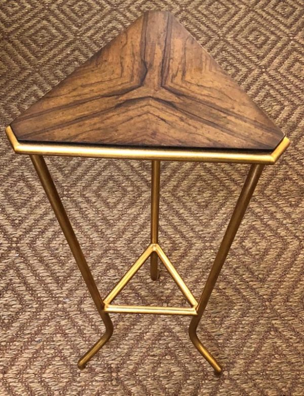 Anna's Mostly Mahogany Consignment - Triangle Side Table