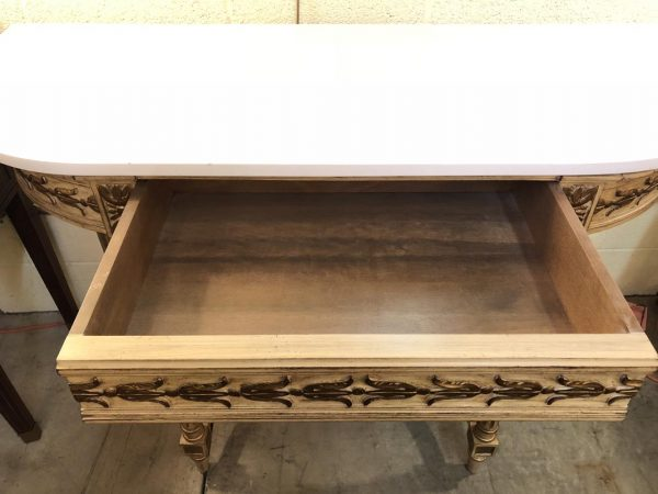 Anna's Mostly Mahogany Consignment - White Stone Top Console Table