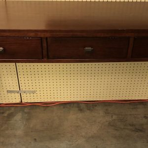 Anna's Mostly Mahogany Consignment - Three Drawer Console Table