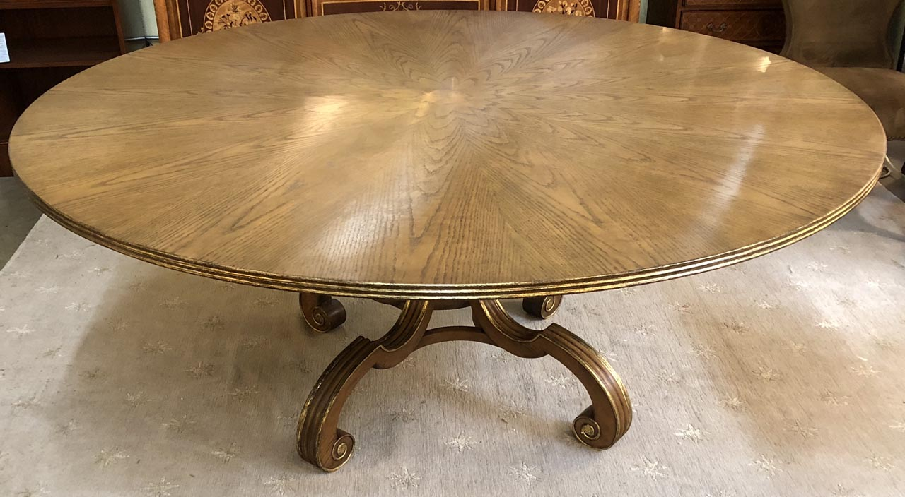 70 Round Regency Style Dining Table Antique And Art