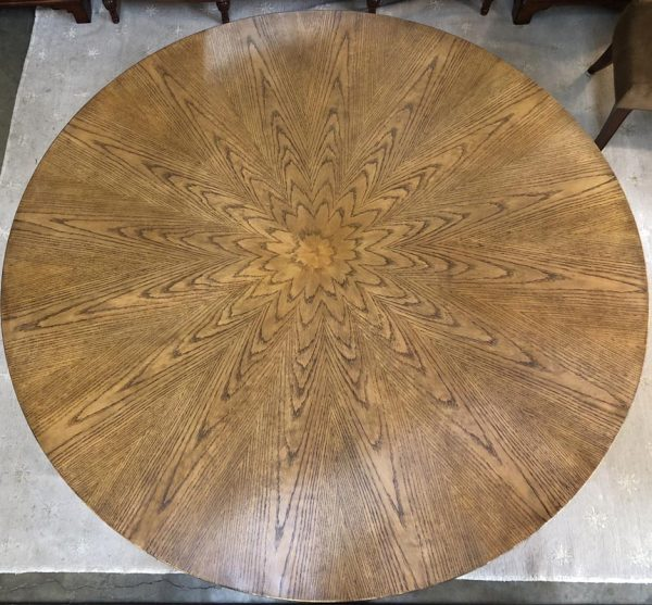 "Anna's Mostly Mahogany Consignment - 70""Round Regency Dining Table"