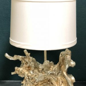 Anna's Mostly Mahogany Consignment - Silver Faux Bois Lamp