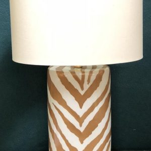 Anna's Mostly Mahogany Consignment - Brown Zebra Print Lamp