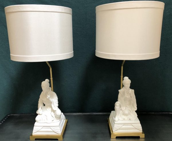 Anna's Mostly Mahogany Consignment - Emperor and Emperess Lamps