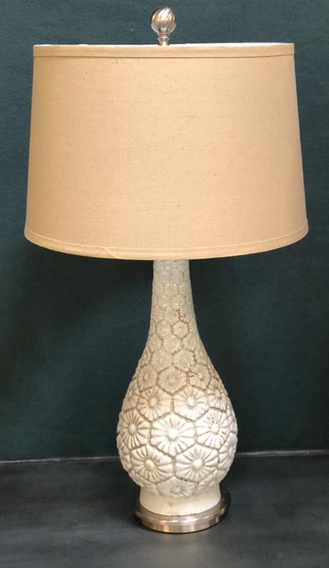 Anna's Mostly Mahogany Consignment - Flower Ceramic Lamps