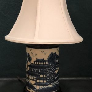 Anna's Mostly Mahogany Consignment - Small Blue & White Canton Lamp
