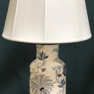 Anna's Mostly Mahogany Consignment - Blue & White Floral Lamps