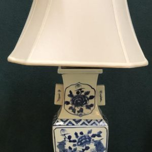 Anna's Mostly Mahogany Consignment - Blue &White Floral Bird Design Lamps