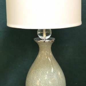 Anna's Mostly Mahogany Consignment - Single Crackled Pattern Lamp