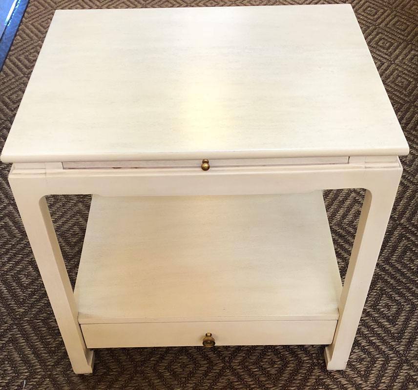 Pair Of Off White Nightstands