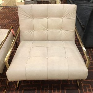 Anna's Mostly Mahogany Consignment - Ivory Leather Club Chairs