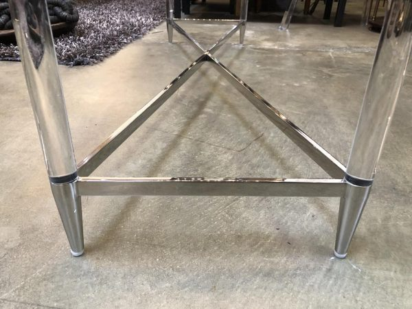Anna's Mostly Mahogany Consignment - Silver Acrylic Console Table