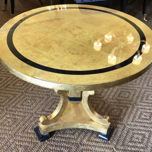 Anna's Mostly Mahogany Consignment - Gold Leaf Lacquer Table