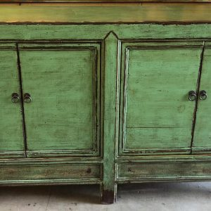 Anna's Mostly Mahogany Consignment - Green Asian Style Cabinet