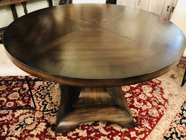 Anna's Mostly Mahogany Consignment - Walnut Round Dining Table