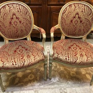 Anna's Mostly Mahogany Consignment - Louis XVI Arm Chairs