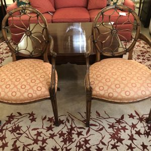 Anna's Mostly Mahogany Consignment - Spider back arm chairs