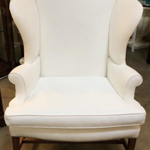 Anna's Mostly Mahogany Consignment - Pair White Wing chairs