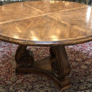 "Anna's Mostly Mahogany Consignment - 53"" Round Oak Table"