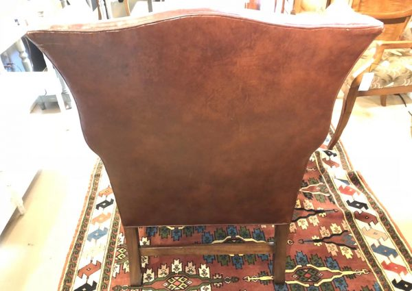 Anna's Mostly Mahogany Consignment - Leather Wing Chair